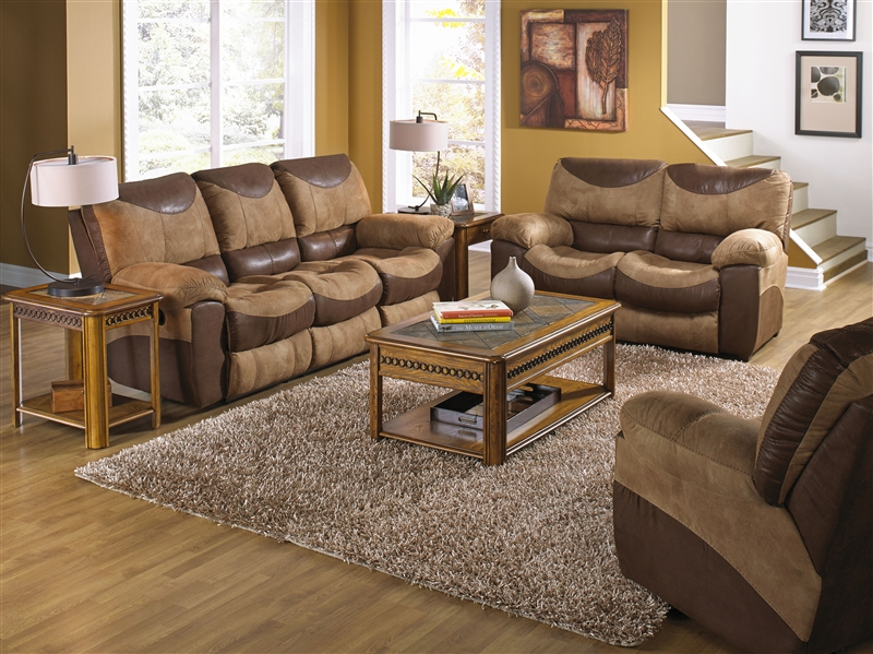 Attractive Two Piece Sofa Set Portman 2 Piece Reclining Sofa Reclining Loveseat Set In Two Tone
