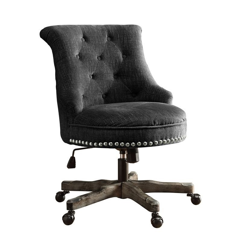 Attractive Upholstered Office Chair Armless Upholstered Office Chair In Charcoal Gray 178403char01u