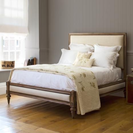 Attractive Upholstered Wood Bed Frame The Versatile Romeo Bed From And So To Bed With Decorative Leg