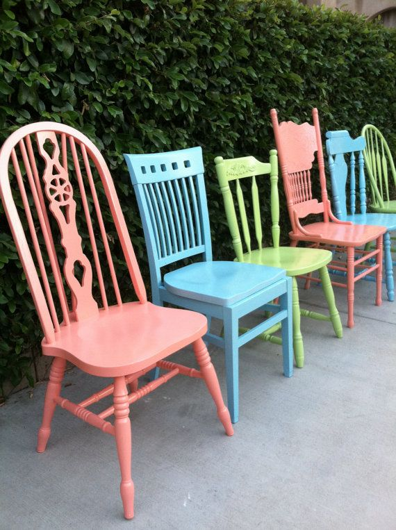 Attractive Vintage Dining Chairs 17 Best Painted Vintage Dining Chairs Images On Pinterest Chairs