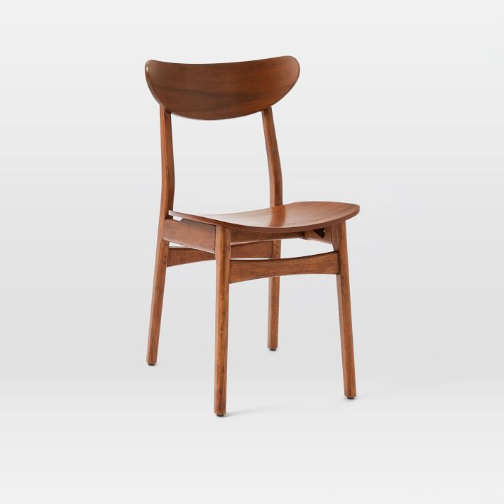Attractive Walnut Dining Chairs Classic Caf Dining Chair Walnut West Elm