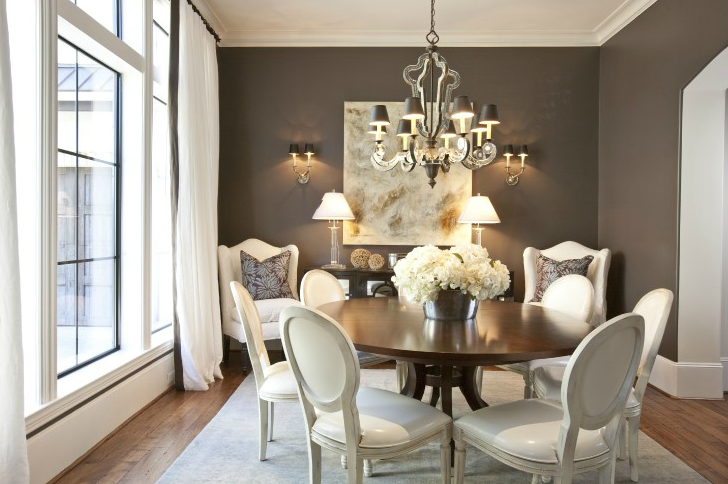Attractive White And Brown Dining Chairs Round Back Dining Chairs French Dining Room Dodson And