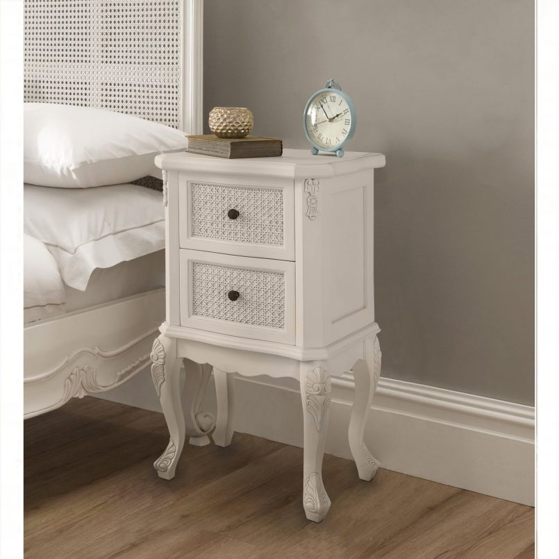 Attractive White And Silver Nightstand Bedroom Contemporary Silver Bedside Table Nightstand Bedside