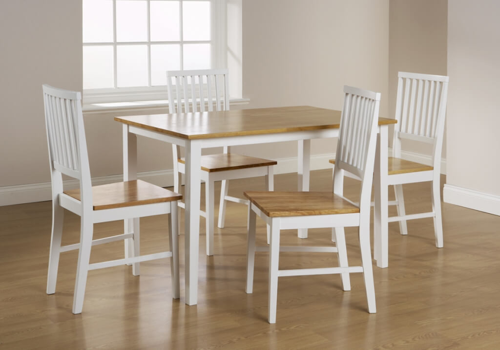 Attractive White And Wood Dining Chairs Dining Room Inspiring White Oak Dining Table And Chairs Refinish