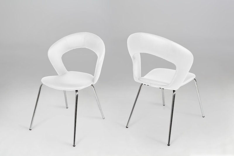 Attractive White Dining Chairs Edna Leather Look White Dining Chair Homestreet Furniture Gifts