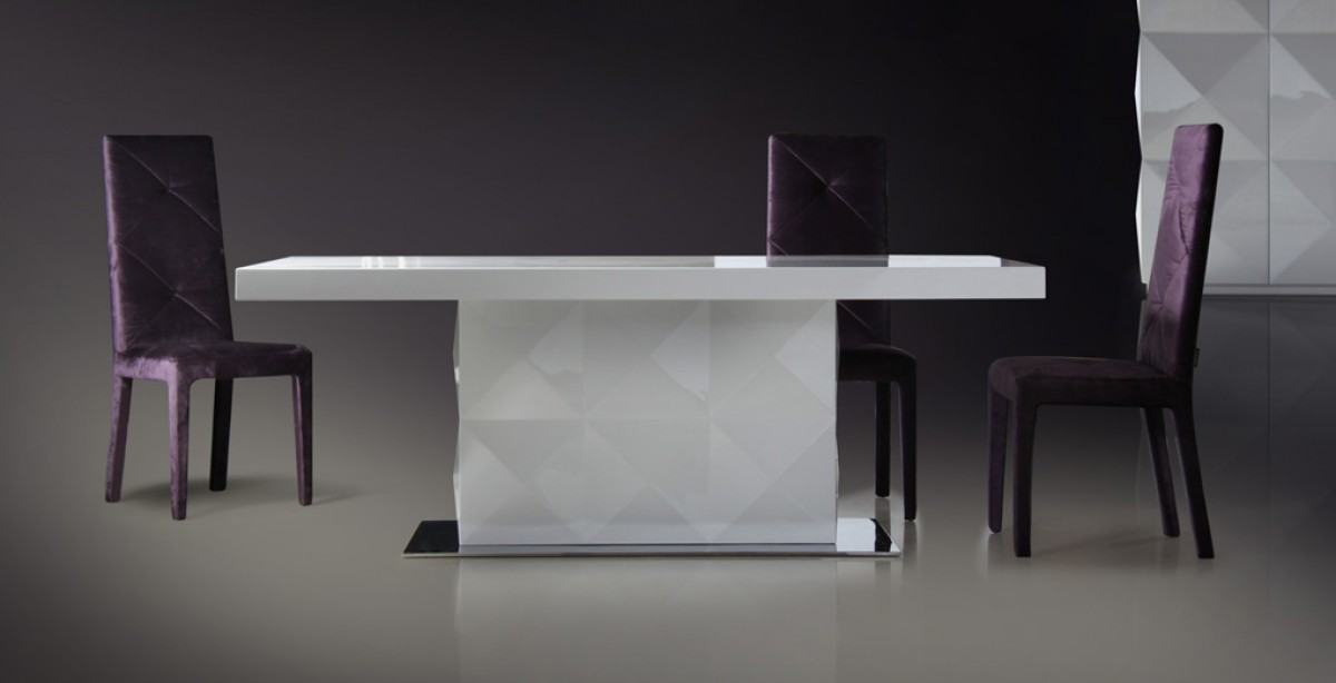 Attractive White Lacquer Dining Table Modern Versus Eva White Lacquer Modern Dining Table