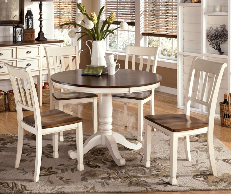Attractive White Round Kitchen Table Lovable Round Kitchen Tables And Chairs With Round White Table And
