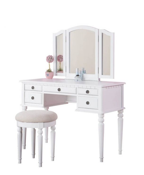 Attractive White Vanity With Mirror Table White Vanity Table With Mirror White Dressing Table With