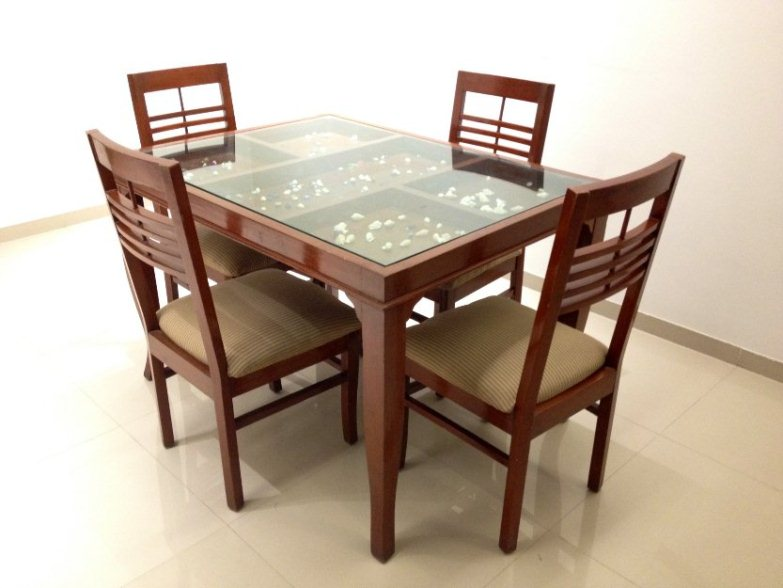 Attractive Wood And Glass Dining Table Designs Alluring Dining Table Glass With Dining Table Glass Top Wood Base