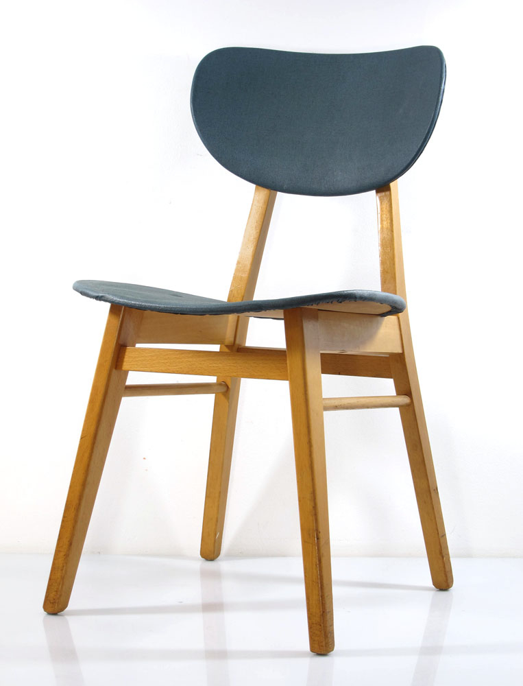 Attractive Wooden Dining Stools 2 Fifties Design Wooden Dining Chairs Vintage Retro Design