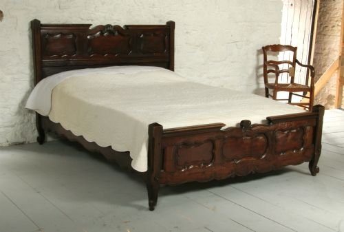 Attractive Wooden King Size Bed Old Cherry French Wooden King Size Bed With Low Foot Board