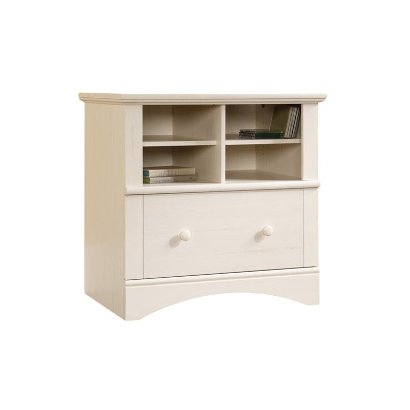 Awesome 1 Drawer File Cabinet 1 Drawer Lateral Wood File Cabinet In Antique White 158002