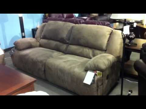 Awesome Ashley Double Reclining Sofa Hogan Double Reclining Sofa Ashley Furniture Youtube