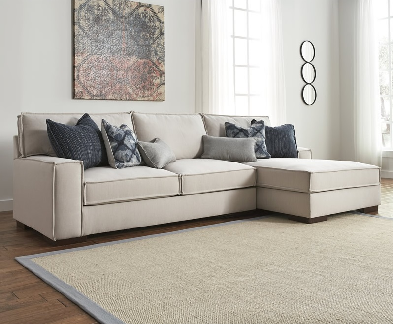 Awesome Ashley Furniture Beige Sectional Kendleton Sectional Ashley Furniture 54704 With A Chaise In A