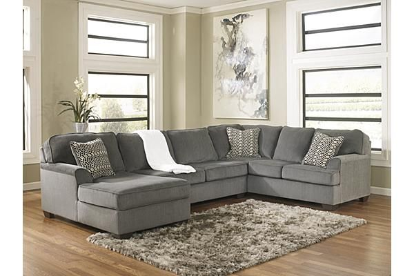 Awesome Ashley Furniture Chenille Sofa The Loric 3 Piece Sectional From Ashley Furniture Homestore Afhs