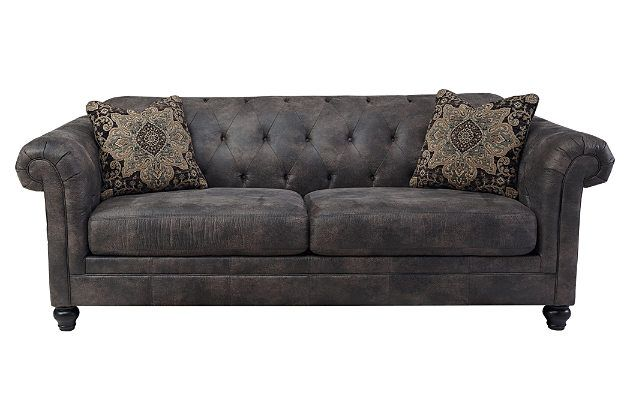 Awesome Ashley Furniture Chesterfield Sofa Cobblestone Hartigan Sofa Ashley Furniture On Sale For 699