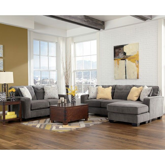 Awesome Ashley Furniture Living Room Sets Sectionals Hodan Marble Living Room Set Grey Yellow Tan Sectional