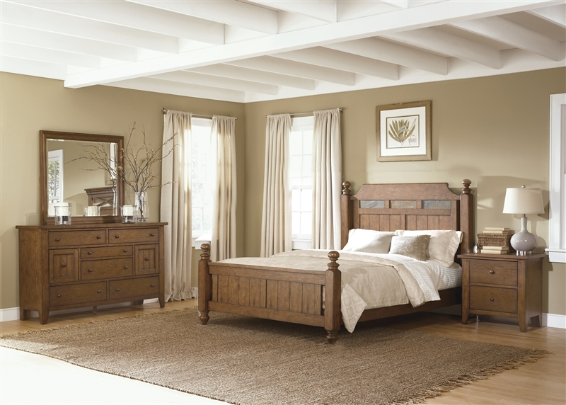Awesome Avalon Bedroom Set Ashley Furniture Bedroom Hearthstone Poster Bed 6 Piece Set In Rustic Oak Finish