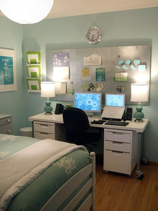 Awesome Bedroom Desk Setup Best 25 Bedroom Office Combo Ideas On Pinterest Guest Room