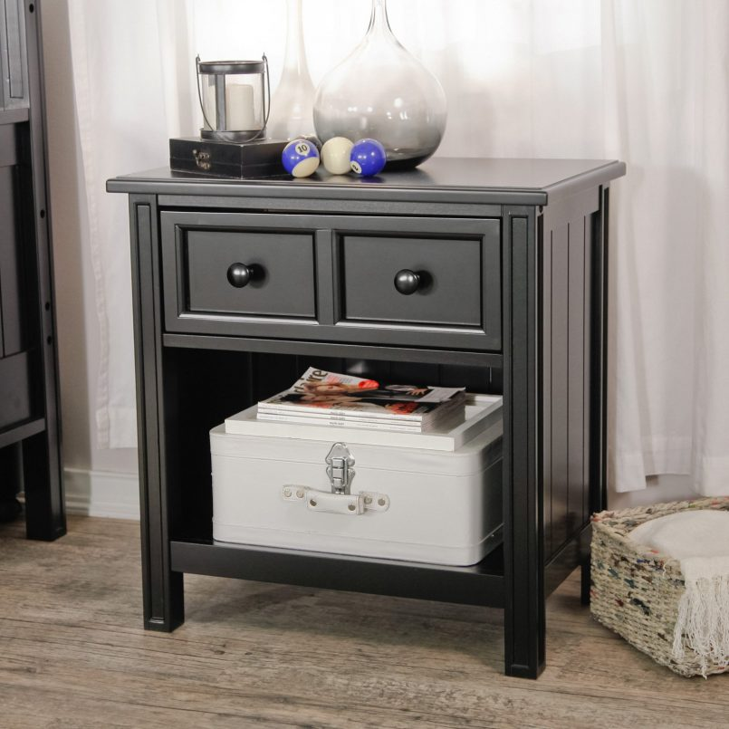 Awesome Black Bedroom End Tables Bedroom Contemporary Small White Bedside Table Bedroom End