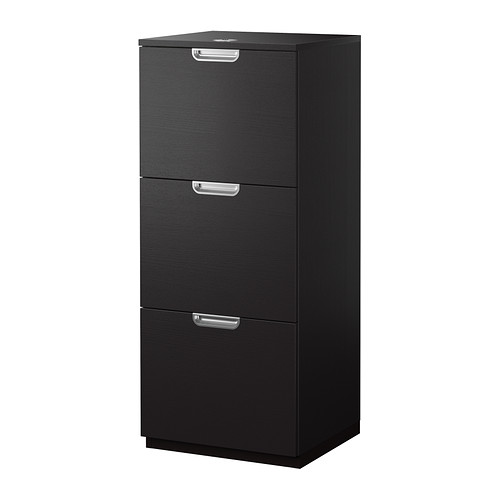 Awesome Black Brown File Cabinet Galant File Cabinet Black Brown Ikea