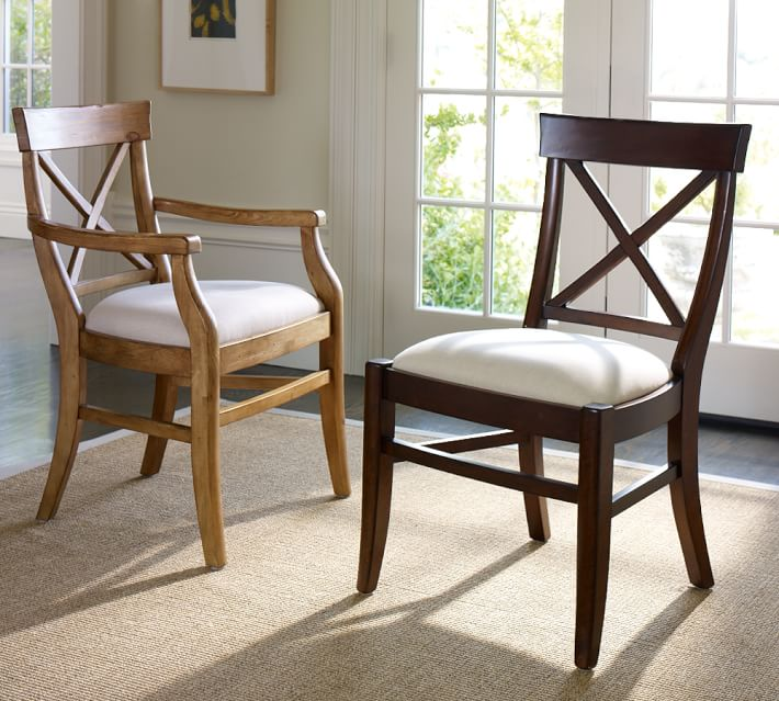 Awesome Black Dining Chairs With Upholstered Seats Aaron Upholstered Chair Pottery Barn