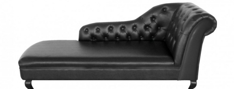 Awesome Black Leather Chaise Lounge Black Leather Chaise Lounge Sanblasferry