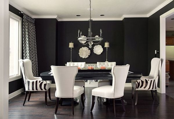Awesome Black White Chairs Living Room Black White And Grey Dining Room Decor With Striped Chairs And