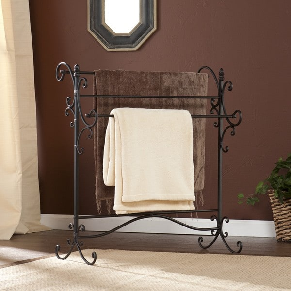 Awesome Black Wrought Iron Quilt Rack Harper Blvd Black Metal Quilt Rack Free Shipping Today