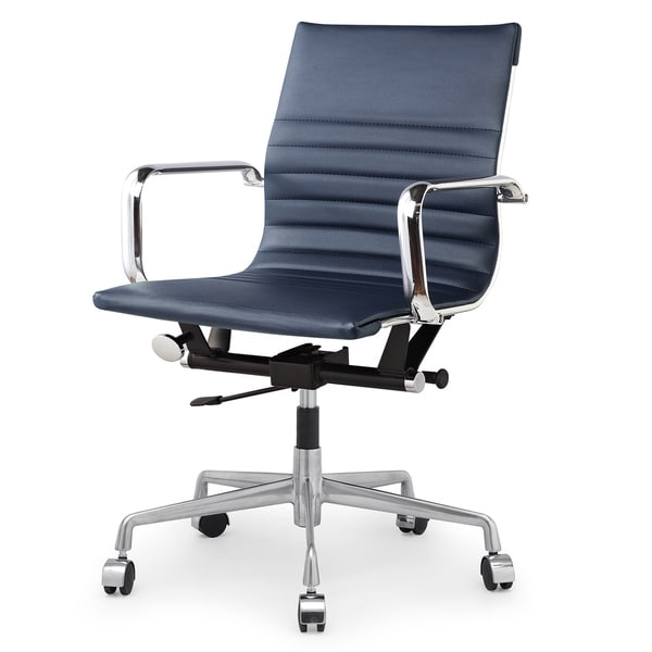 Awesome Blue Office Chair M348 Modern Navy Blue Vegan Leather Office Chair Free Shipping