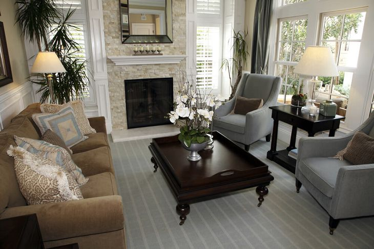 Awesome Brown And Grey Sofa Wonderful Brown And Grey Living Room Brown Sofa White Grey Stripes