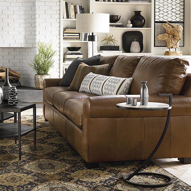 Awesome Casual Sofas And Chairs Leather Sofas Living Room Furniture Bassett Furniture