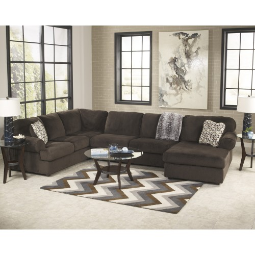 Awesome Chocolate Living Room Furniture Jessa Place Chocolate Living Room Furniture Collection For 21994