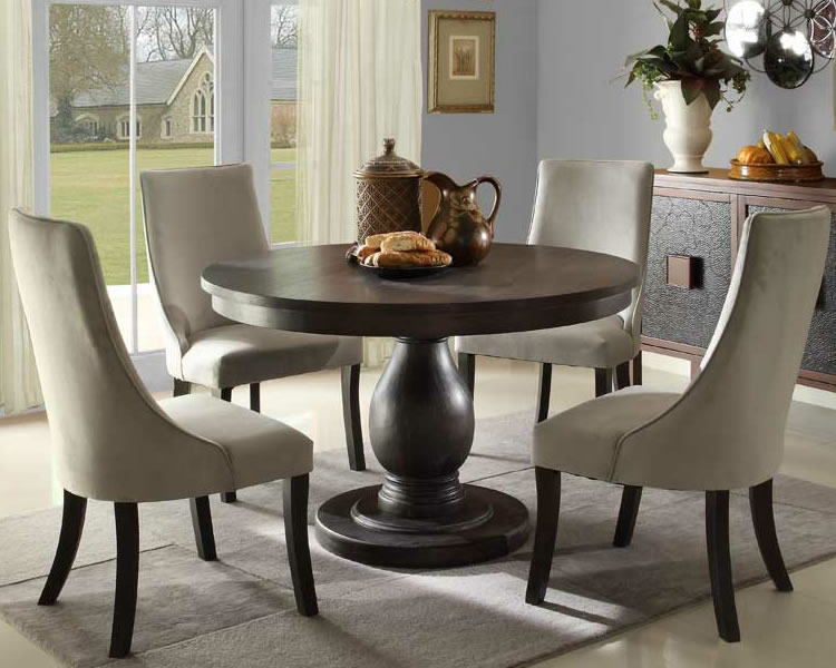 Awesome Circle Dining Room Table Wooden Circular Dining Tables Insurserviceonline