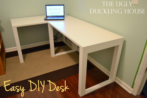 Awesome Computer Desk Blueprints 15 Diy Computer Desk Ideas Tutorials For Home Office Hative