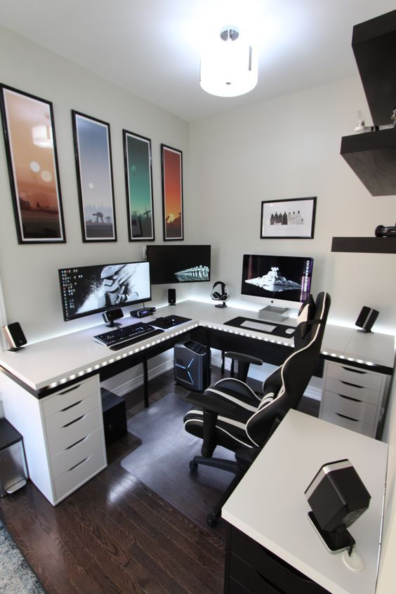 Awesome Computer Desk Setup Ideas Best 25 Desk Setup Ideas On Pinterest Computer Setup Pc Gaming