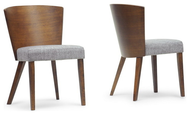 Awesome Contemporary Dining Chairs Baxton Studio Sparrow Modern Dining Chairs Set Of 2 Brown And