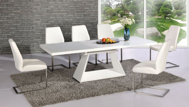 Awesome Contemporary Dining Tables Extendable Silvano Extending White High Gloss Contemporary Dining Table Dalia