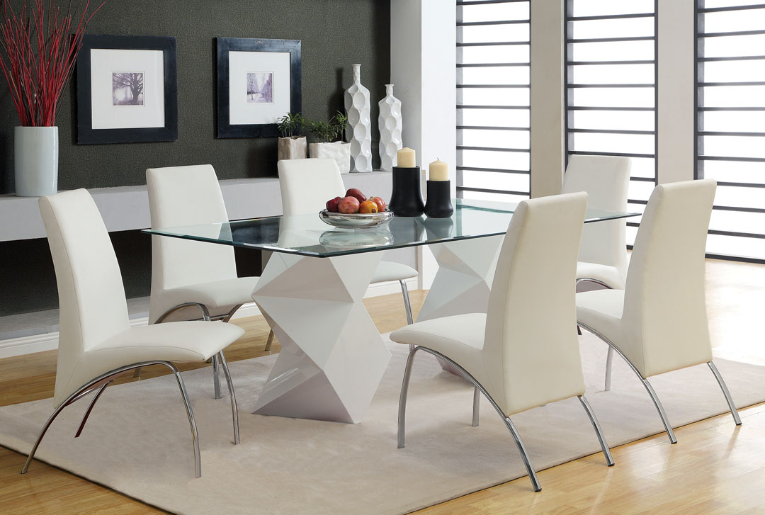 Awesome Contemporary Rectangular Dining Table Modern Glass Dining Room Tables Pleasing Inspiration Fascinating