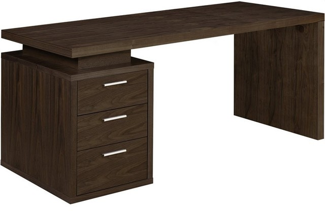 Awesome Dark Wood Office Desk Benjamin Office Desk Contemporary Desks And Hutches