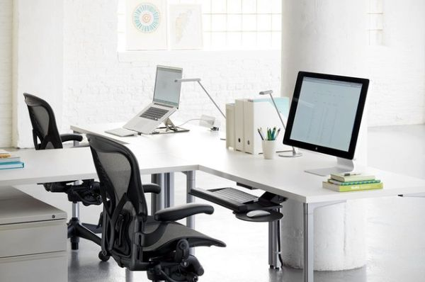 Awesome Desk For Two People Modern T Shaped Office Desk For Two People Home Interior Design