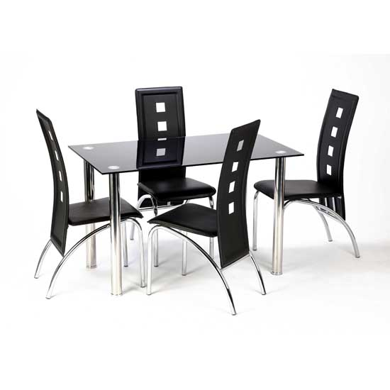 Awesome Dining Table And 4 Chairs Glass Dining Tables And 4 Chairs Furnitureinfashion Uk Dining