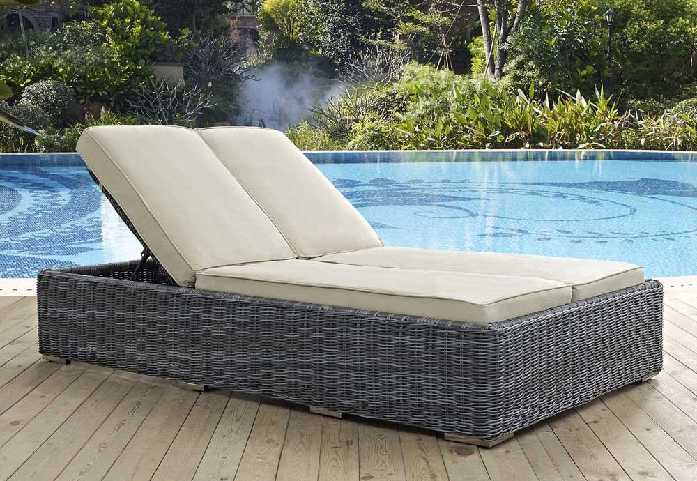 Awesome Double Chaise Lounge Outdoor Outdoor Double Chaise Lounge