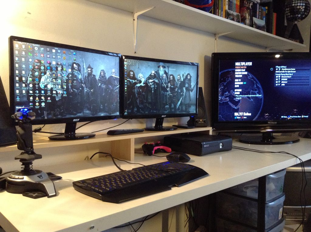 Awesome Double Monitor Desk Simple Dual Monitor Stand