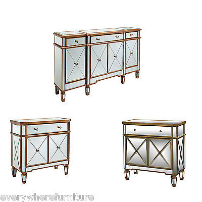 Awesome Dresser And Nightstand Set 3pc Set Mirrored Mirror Dresser Nightstands Table Console Cabinet