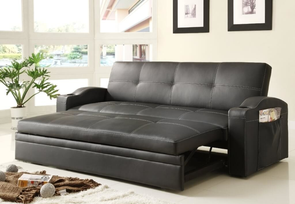 Awesome Faux Leather Futon Couch Black Leather Futon Sofa Bed 25 With Black Leather Futon Sofa Bed