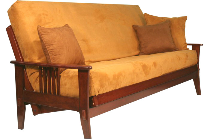 Awesome Full Size Futon Frame Only Marin Wood Futon Frame Dark Cherry Marin Wood Futon Frame Dark