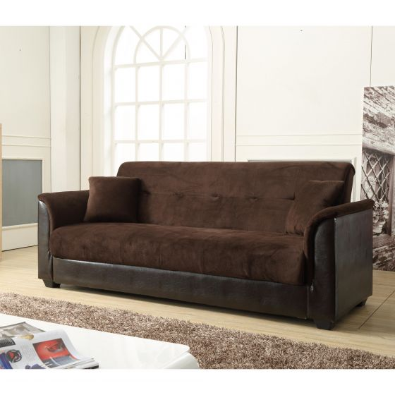 Awesome Futon Bed With Storage Nathaniel Home Chocolate Melanie Champion Futon Sofa Bed With Storage
