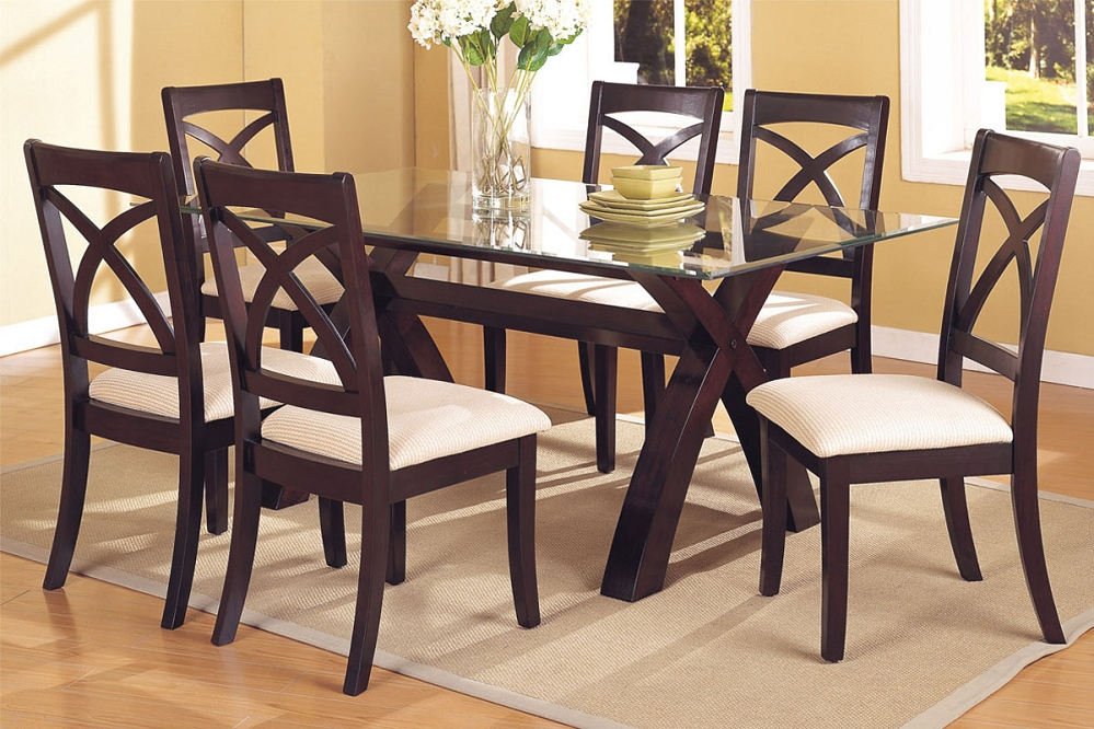 Awesome Glass Top Dining Table Enchanting Dining Table Glass With Glass Dining Table Sets
