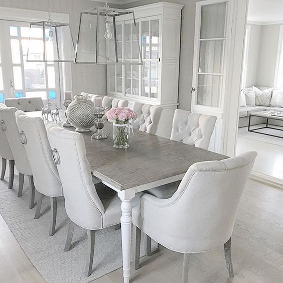 Awesome Gray And White Dining Room Chairs Best 25 Neutral Dining Rooms Ideas On Pinterest Neutral Dining